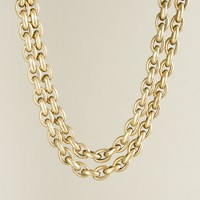 Double-row mini-link necklace