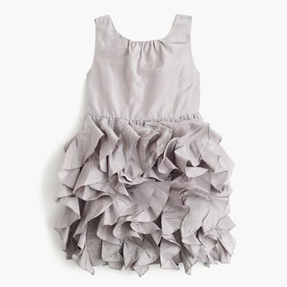 Girls' Lyla dress in silk taffeta