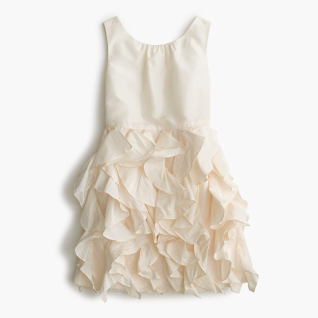 Girls' Lyla dress in silk taffeta