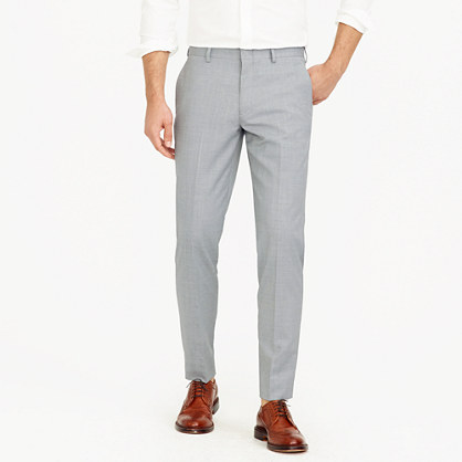 Unhemmed Ludlow slim suit pant in Italian wool