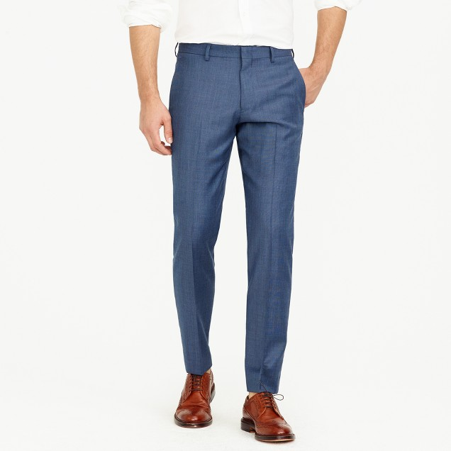 Unhemmed Ludlow slim suit pant in Italian worsted wool