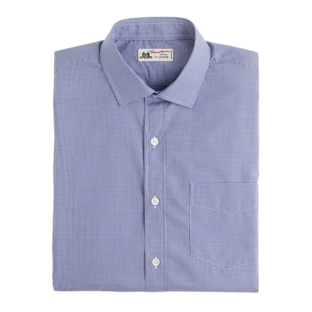 Thomas Mason® for J.Crew spread-collar dress shirt in microgingham