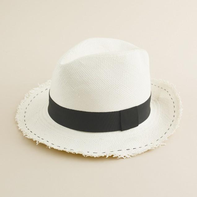 Frayed Panama hat