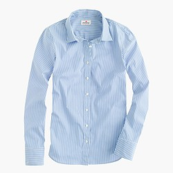 Stretch perfect shirt in classic stripe