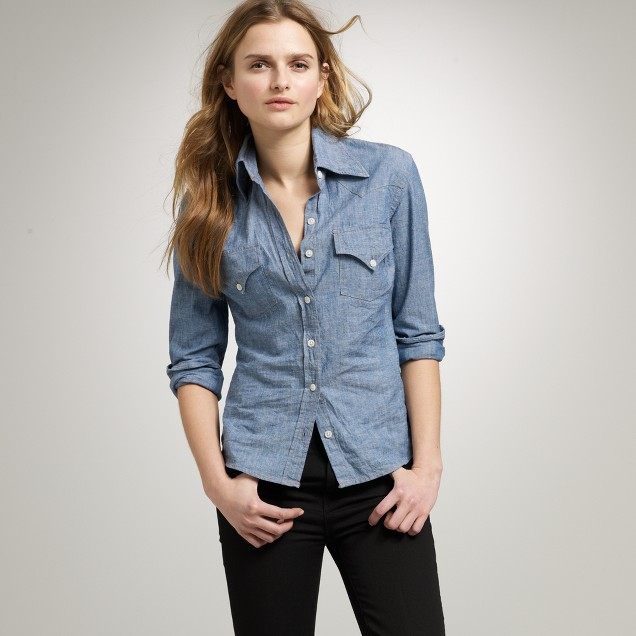 The Jean Shop® chambray shirt