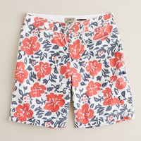 Camouflage floral board short