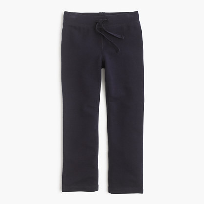 Girls' solid stretch pant