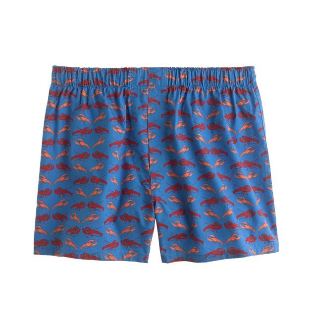 Lobster print boxers