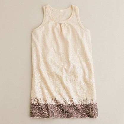 Girls' scattered sequin dress