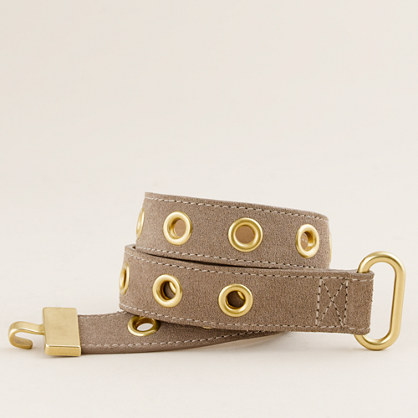 Suede hook belt