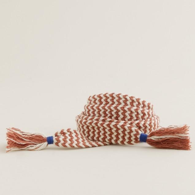 Chevron tie belt