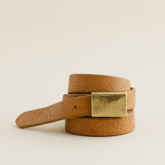 Skinny plaque belt