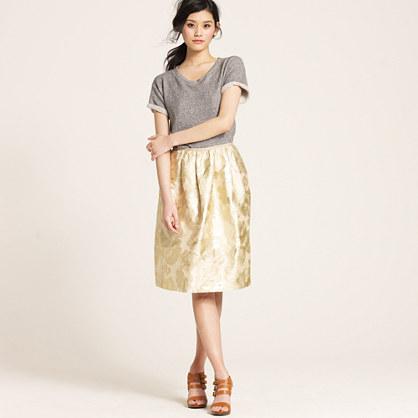 Floral long swing skirt