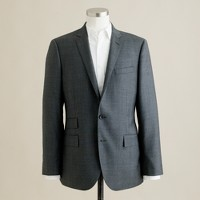 Ludlow suit jacket with double vent in glen plaid Italian wool