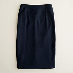Petite telegraph pencil skirt in Super 120s wool