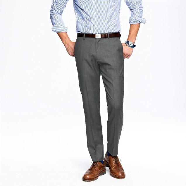 Ludlow classic suit pant in glen plaid Italian wool