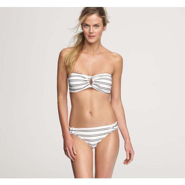 Marina-stripe ring bandeau top