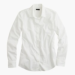 Petite boy shirt in classic white