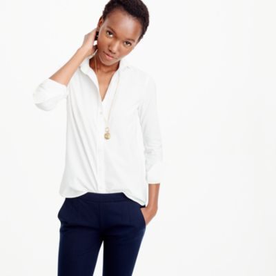 Boy shirt in classic white : Women Suiting Shirts | J.Crew