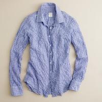 Perfect shirt in suckered mini-gingham
