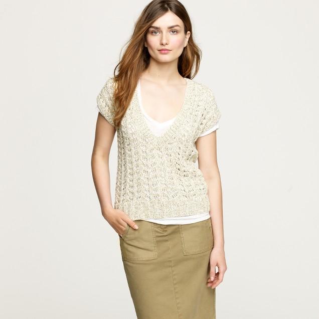 Crochet marled vest