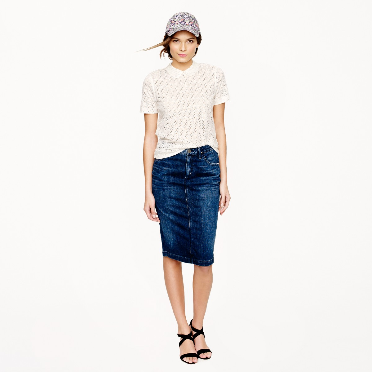 Goldsign® for J.Crew Holly skirt in martel wash : Women pencil | J ...