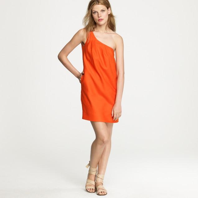 Toga dress in orange