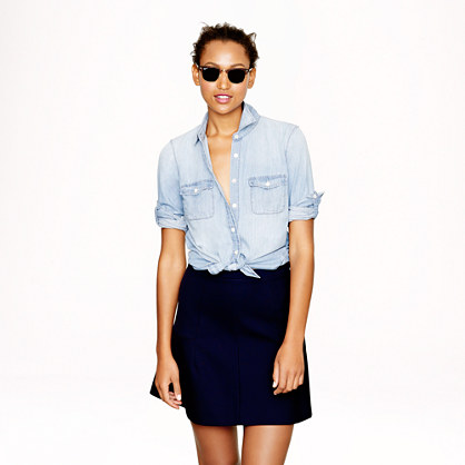 Petite keeper chambray shirt