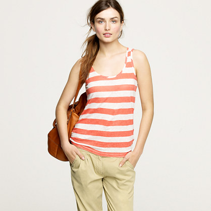 Whisper linen stripe tank