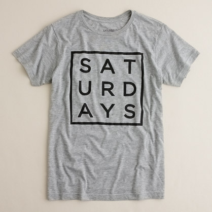 Saturdays square type tee