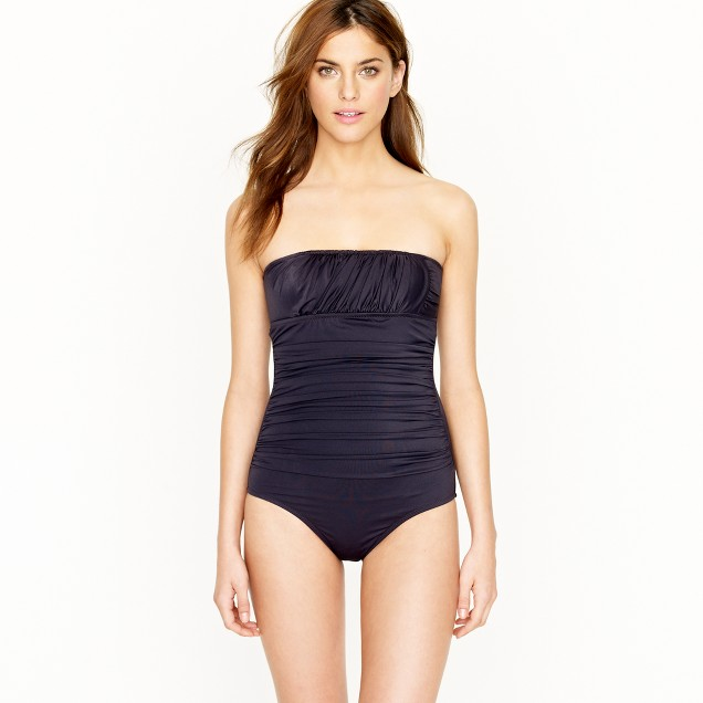 Ruched banded bandeau tank