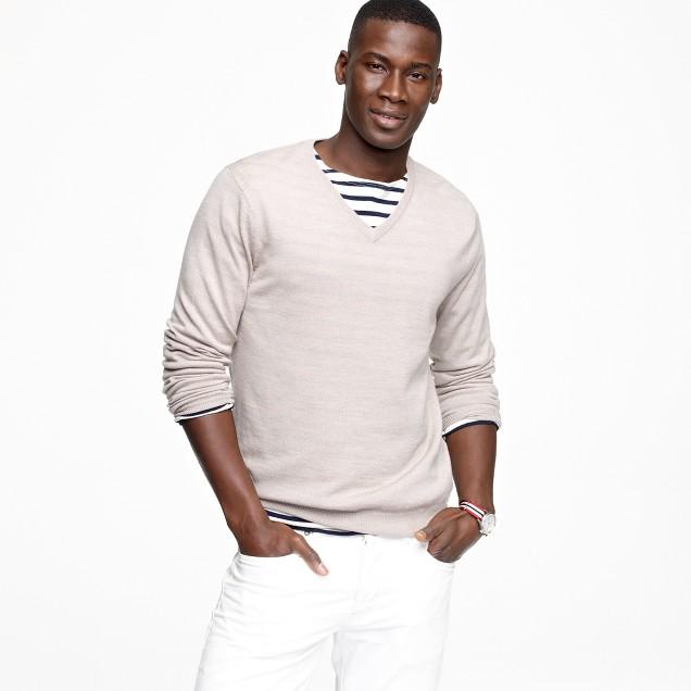Tall merino V-neck sweater