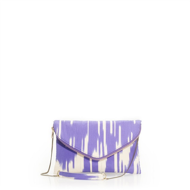 Silk ikat invitation clutch