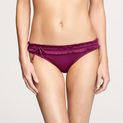 Ruffle drawstring bikini