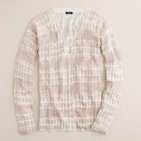 Silk-linen tie-dye cardigan