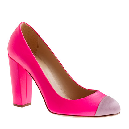 Etta satin cap toe pumps