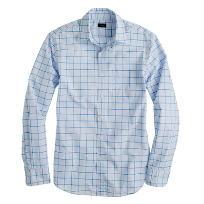 Secret Wash shirt in bright surf check