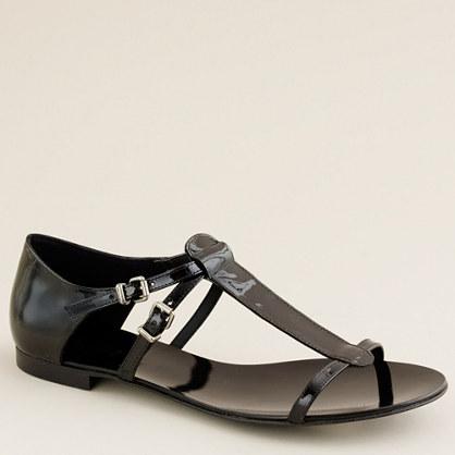 Iris patent sandals