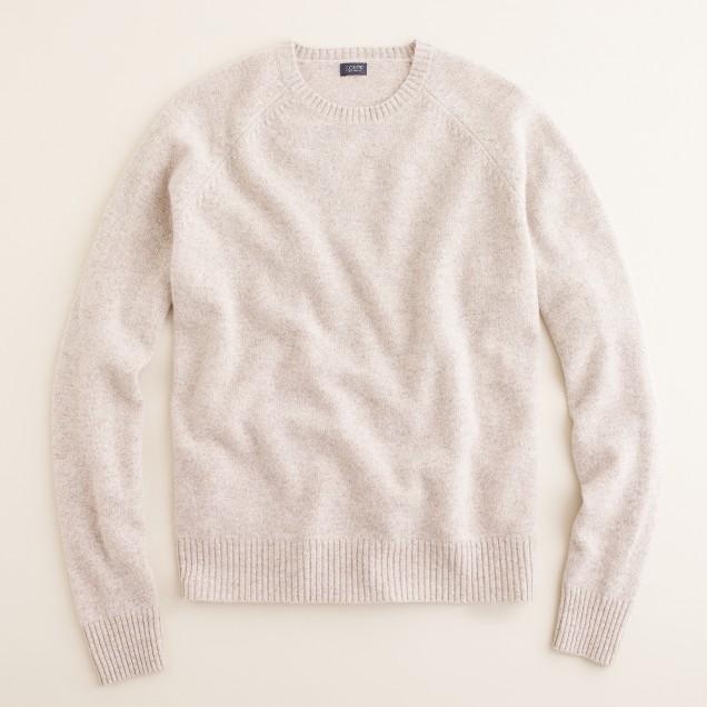 Marled lambswool sweater