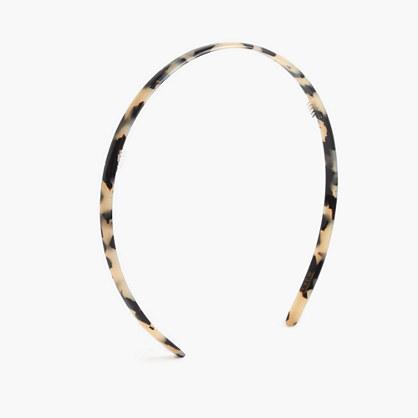 Skinny headband in Italian tortoise
