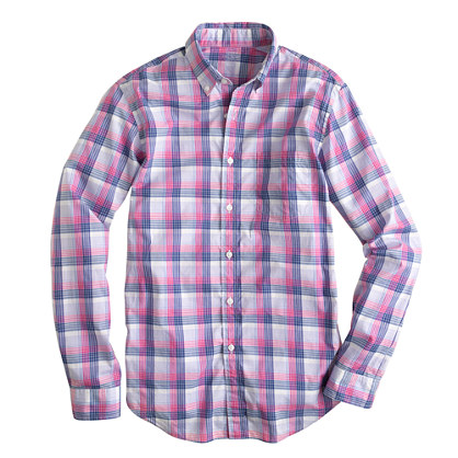 Lightweight shirt in flash pink plaid