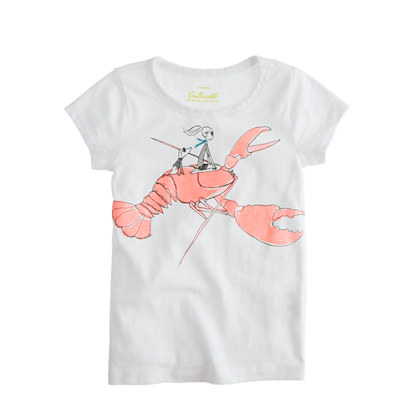 Girls' glitter lobster tee