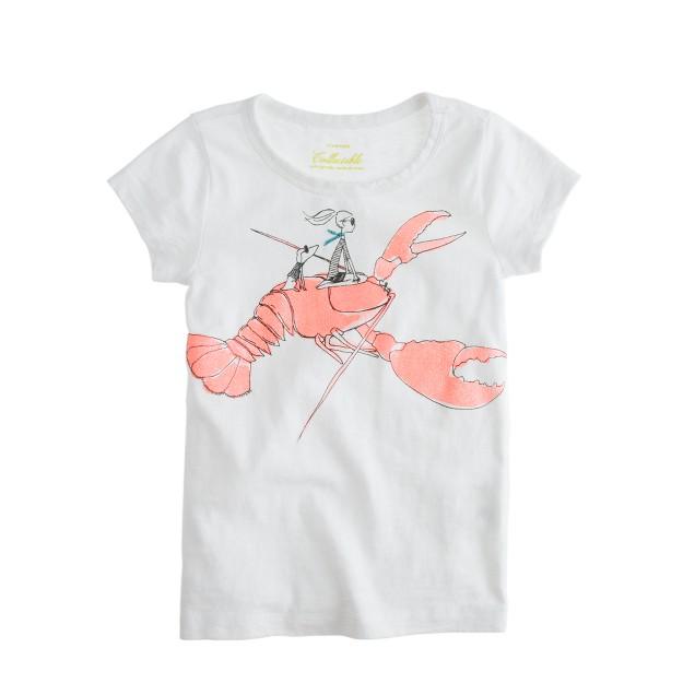 Girls' glitter lobster tee