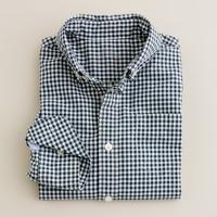 Boys' Secret Wash shirt in classic gingham