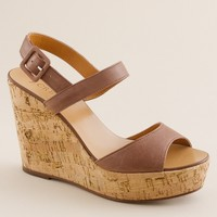 Maryanne leather wedges
