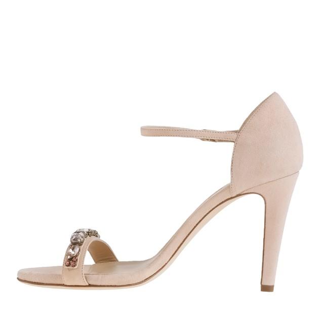 Evonne jeweled heels