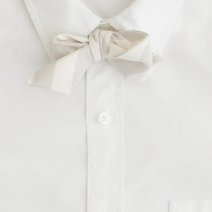Old-school textured-stripe bow tie