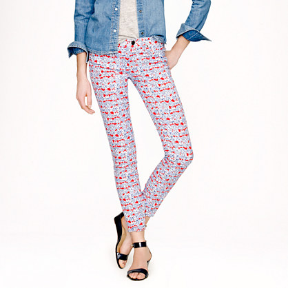 Liberty toothpick jean in Matilda tulip floral