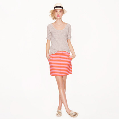 Postcard mini in textured stripe
