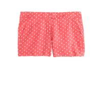 Polka-dot linen short
